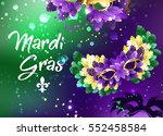 bright purple and green... | Shutterstock .eps vector #552458584
