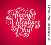 vector happy valentines day... | Shutterstock .eps vector #552460165