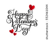 happy valentines day card.... | Shutterstock .eps vector #552461044