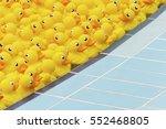 yellow toy duck floating in... | Shutterstock . vector #552468805