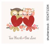 Greeting Card With Two Cute...