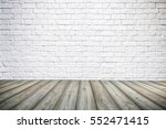3d interior background with... | Shutterstock . vector #552471415