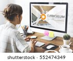 distance learning online... | Shutterstock . vector #552474349