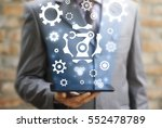industrial automation robotic... | Shutterstock . vector #552478789