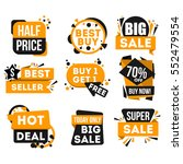big sale and hot deal badge... | Shutterstock .eps vector #552479554