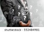 erp questions business computer ...   Shutterstock . vector #552484981