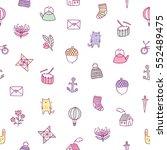 kids doodle seamless pattern | Shutterstock .eps vector #552489475