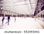ice skating indoor rink with... | Shutterstock . vector #552493441