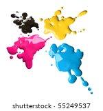 Splashes Of Four Color Printin...