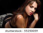 Sexy Latin Woman On Black...