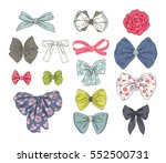 big fashion collection of bows. ... | Shutterstock .eps vector #552500731