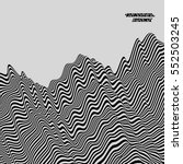black and white geometric... | Shutterstock .eps vector #552503245