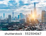shanghai skyline with... | Shutterstock . vector #552504067