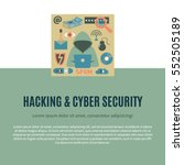 hacking and cyber security  ... | Shutterstock .eps vector #552505189
