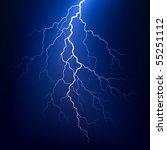 lightning bolt at night. vector. | Shutterstock .eps vector #55251112