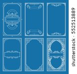 vintage blue vector set retro... | Shutterstock .eps vector #552513889