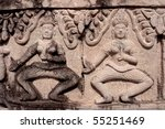 carved on the laterite  prang... | Shutterstock . vector #55251469