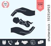 hands holding baby | Shutterstock .eps vector #552514915