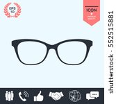 glasses icon | Shutterstock .eps vector #552515881