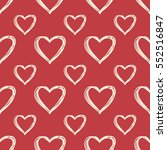hearts pattern  hand drawn... | Shutterstock .eps vector #552516847