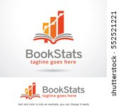 book stats logo template design ... | Shutterstock .eps vector #552521221