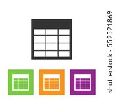 spreadsheet vector icon.... | Shutterstock .eps vector #552521869