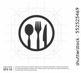 fork and spoon icon   | Shutterstock .eps vector #552525469