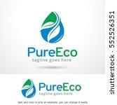 pure eco logo template design... | Shutterstock .eps vector #552526351