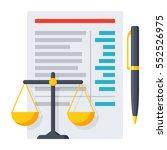 balance sheet report with... | Shutterstock .eps vector #552526975