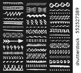 collection of hand drawn... | Shutterstock .eps vector #552527389