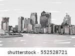 sketch cityscape of london ... | Shutterstock . vector #552528721