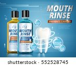 mouth rinse ads  refreshing... | Shutterstock .eps vector #552528745