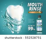 mouth rinse ads  refreshing... | Shutterstock .eps vector #552528751