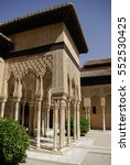 Small photo of GRANADA,ES - CIRCA AUGUST, 2008 - The andalusian gardens of Alhambra. Alhambra is the most visited attraction of Granada, Spain.