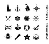 marine  sea  nautical  pirate ... | Shutterstock .eps vector #552530551