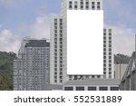 blank billboard on side of... | Shutterstock . vector #552531889