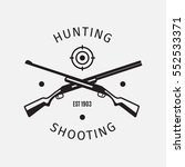 vintage style vector hunting... | Shutterstock .eps vector #552533371