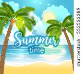 summer time sea view background.... | Shutterstock .eps vector #552533389