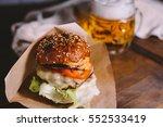 appetizing cheeseburger  made... | Shutterstock . vector #552533419