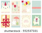 collection of birthday banner ... | Shutterstock .eps vector #552537331