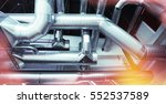 ventilation pipes of an air...   Shutterstock . vector #552537589