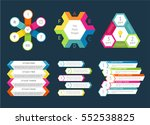 abstract infographics set with... | Shutterstock .eps vector #552538825