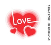 love greeting card design with... | Shutterstock .eps vector #552539551