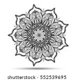 vector mandala for coloring... | Shutterstock .eps vector #552539695