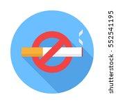 No Smoking Icon. Flat Design...