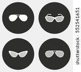 sunglasses vector icon. white... | Shutterstock .eps vector #552541651