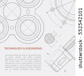 engineering vector concept with ... | Shutterstock .eps vector #552542101