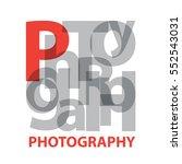 vector photography. broken text | Shutterstock .eps vector #552543031