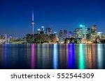 toronto city skyline at night ... | Shutterstock . vector #552544309