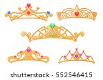 vector princess crowns  tiaras...   Shutterstock .eps vector #552546415